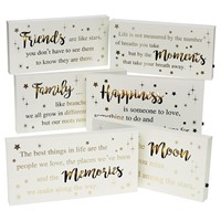 Golden Words LED Plaques