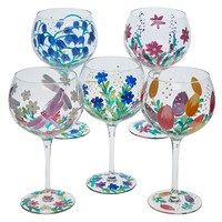 Flower Gin Glasses