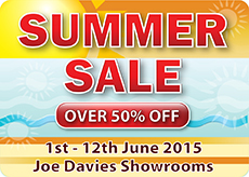 Joe Davies Summer Sale