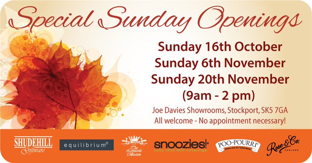 Special Sunday Openings